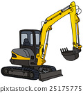 Yellow small excavator 25175775