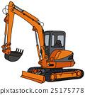 Orange small excavator 25175778