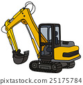 Yellow small excavator 25175784