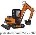Orange small excavator 25175787