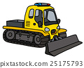 Funny yellow snowplow 25175793