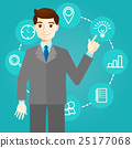 Businessman works with icons and new technologies 25177068