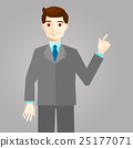 Businessman pointing with finger, flat style 25177071