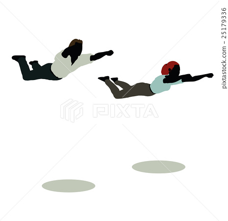 man and woman silhouette in Still Pose Super Hero 25179336