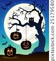 Halloween tree silhouette theme 5 25179580
