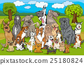 purebred dogs group cartoon 25180824