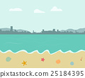 Beach background in pastel color style 25184395