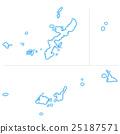 okinawa prefecture map, okinawa prefecture, map 25187571