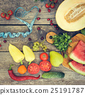 Fruits, vegetables and in measure tape in diet  25191787