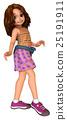 Cute girl walking 25191911