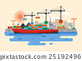 Vector hafen in flat style 25192496