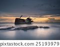 Shipwreck in Angsila Chonburi with sunset 25193979