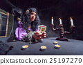 Sorceress while practising witchcraft 25197279