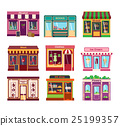 Shop facade vector illustration 25199357