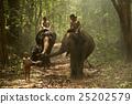 Elephants with people 25202579