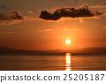 lake biwa, morning glow, sunrise 25205187