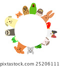 動物 圓的 日元 25206111