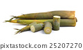 Bamboo shoot isolated on a white background 25207270