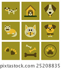 assembly flat icons dog cats pets 25208835
