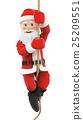 3D Santa Claus climbing a rope 25209551