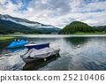 boat, lake, mountain 25210406