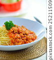 spaghetti  with tomato beef sauce 25211509
