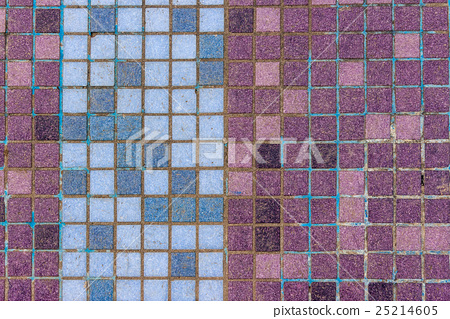 mosaic tiles of different colors lined verticaly 25214605