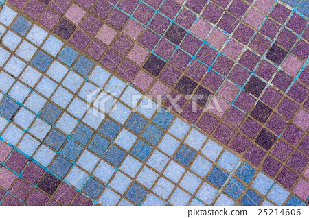 mosaic tiles of different shades lined  diagonal 25214606