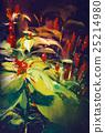 painting of blooming wildflowers 25214980