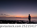 sunrise, morning glow, shore 25215417