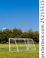 Blue sky and soccer goal 25215515