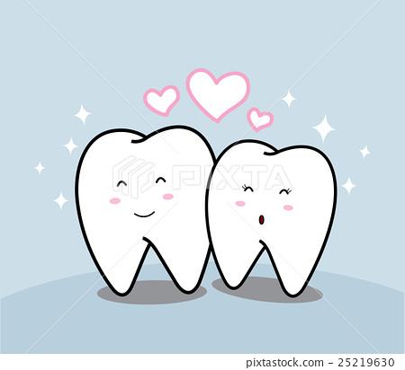 cute cartoon Smiling tooth  25219630