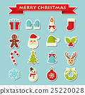 คริสต์มาส,ไอคอน,น่ารัก 25220028
