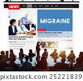 Migraine Symptoms Diagnosis Disturbed Vision Concept 25221839