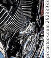 Motorcycle engine close-up as background 25233933