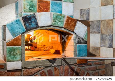 fire in professional  Italian stylepizza oven 25234329