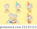 Old coupl ecelebration birthday 25235153