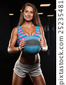 Young woman lifting a medicine ball 25235481