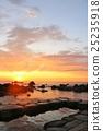 홋카이도 水無 해변 온천의 새벽 25235918