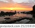 홋카이도 水無 해변 온천의 새벽 25235919