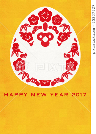new years card template chicken new years card 25237527