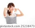 귀여운 하복을 입은 소녀 25238473