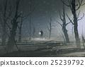 绘画 森林 树林 25239792