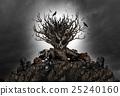 Halloween Creepy Tree Background 25240160