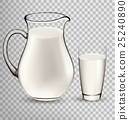 Natural Whole Milk In Jug And Glass 25240890