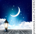 Night Sky Background With Crescent Moon 25240892
