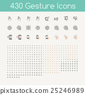 430 gestures icons for touch devices 25246989