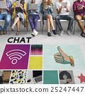 chatting, men, smiling 25247447