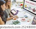 Online Shopping Web Shop E-shopping Concept 25248000