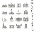 World Landmark Icon Set 25248323
